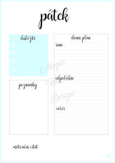 Sada - modrá #daily #planner #diary #diář #plánovací #plánovač  Chcete si hezky uspořádat svůj čas? Pak si objednejte tyto denní plánovače. S nimi zaručeně na nic nezapomenete. Tento denní plán je velikosti A5 a hodí se například do diáře. Diy Paper, Organization Hacks, School Supplies, Bujo, Back To School, Bar Chart, Diy And Crafts, Homeschool, Bullet Journal