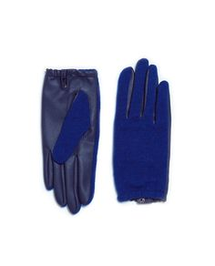 ZARA - WOMAN - SHORT LEATHER GLOVE Pop! It's Blue and its bright!