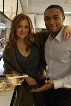 Sasha Alexander & Lee Thompson Young (Rest in Peace) so sad to hear about his passing :(