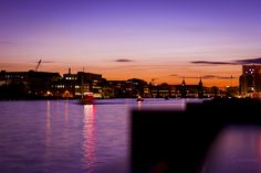 Sundown at Berlin, located river spree, easthaven and oberbaumbridge...