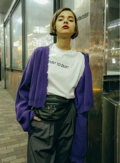 Used Half Cardigan / Purple | PERVERZE