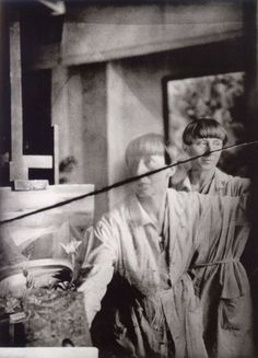 Hannah Höch, Self-Portrait in her studio, ca 1930