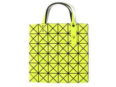 6642ee779a16 BAO BAO ISSEY MIYAKE Tote bag BILBAO LUCENT-1 BB41AG302 Yellow Green JAPAN