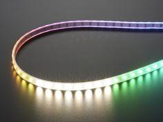 Adafruit NeoPixel Digital RGBW LED Strip - White PCB 60 LED/m ID: 2842 - $26.95 : Adafruit Industries, Unique & fun DIY electronics and kits