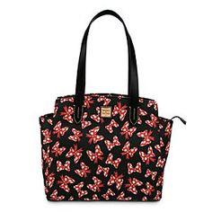 Disney Minnie Mouse Bow Fan Shopper Bag by Dooney  Bourke - Black - Disney Store