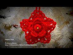 Passo a passo Flor Pingente de Natal em Crochê