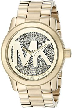 Michael Kors Women's Watch XL Analogue Quartz Stainless Steel MK5706  Discount from Β£295 To Β£118,5
