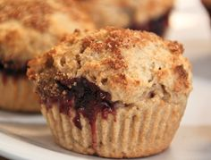 Cinnamon Sugar Muffins filled with Raspberry Jelly