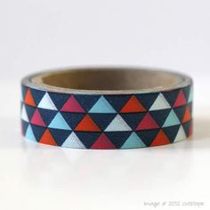 Color combination: Triangle Washi Tape Mini Size Gift Wrapping by PrettyTape on Etsy, $2.00