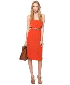 Burnt Orange dress.
