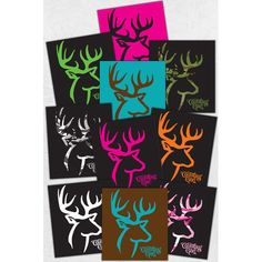 10 Piece Country Girl Deer Sticker Collection