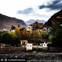#Repost @myfleetfootposts with @repostapp. To get featured tag your posts with #talestreet  story......finally we were at kaza district headquarters of Spiti wobbling on our feet considering each one in the bus was suitably shaken and stirred.It took 11 hours in the state roadways bus to get here from Manali. The sun had set behind the mountain and it was instantly cold with the hundreds of prayer flags fluttering making one aware how windy the valley is. #hrtc #travelstoke #instahimachal…