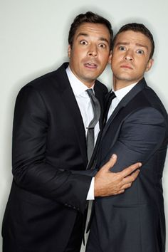 Jimmy Fallon &Justin Timberlake There's a reason why anytime these two get together on late night television, the entire world tunes in. It's because they're having the absolute time of their lives — and it shows. They're each other's perfect comedic match, and their affinity for sharp suits and high tops doesn't hurt either. #BestBros.