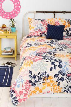 Plum & Bow Sketch Floral Duvet Cover