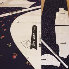 @grainlinestudio #scouttee  Let's do this! First garment-from-pattern for me. Fingers crossed  by hotlunchclub