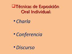 TÉCNICAS DE EXPOSICIÓN.
