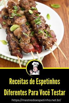 Oriental, Grilling, Bbq, Meat, Recipes, Food, Brazil, Skewer Recipes, Tasty Food Recipes