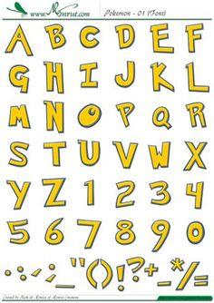 Resultado de imagen para letras de pokemon