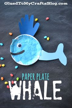 Paper Plate Whale - Kid Craft - Glued To My Crafts