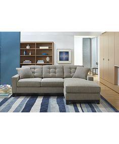 Clarke Fabric 2-Piece Sectional Queen Sleeper Sofa Bed: Custom Colors | macys.com