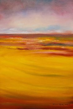 """""""Fields of Autumn Fire"""" Oil painting for sale from Melanie Meyer's - Emergence Art Gallery - in Cape Town."""