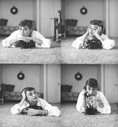 Shaw developed prints of Audrey after each session, spending his nights studying them for typical Audrey mannerism, gestures, and expressions. The series of Audrey talking on the phone was taken when her agent called her at home. Mark's diligence paid off: the photos truly capture Audrey's personality and, by the end of the shoot, she was treating him like a member of the family. She even allowed Mark to publish the photos he took of her at home - the first time the privacy-minded star had…