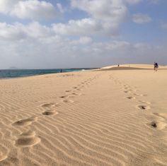 Footsteps on a quiet beach #CapeVerde #Kaapverdie