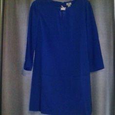 NWT Worthington dress Electric blue sheath dress with 3/4 sleeves.  Front pocket detail.  Lined crepe poly/spandex Worthington Dresses