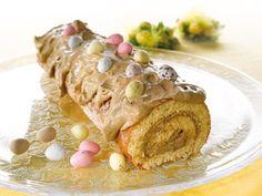 Mämmikääretorttu Easter Recipes, Easter Food, Easter Ideas, Eggs, Meat, Breakfast, Swiss Rolls, Fine Dining, Morning Coffee