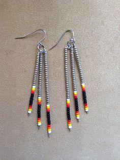 Native American style seed bead earrings by Beadcracka on Etsy