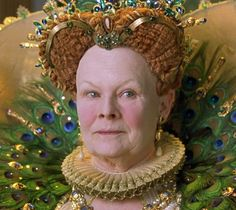 Judi Dench as Queen Elizabeth I  Page on different period makeup and hair look (ref)