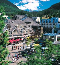 Whistler, British Columbia - one of my favorite places on Earth! But only during the summer time..we all know I dont do snow!