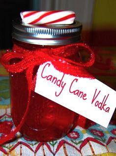 Candy Cane Vodka- festive!