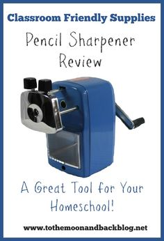 Classroom Friendly Supplies Pencil Sharpener Review - To the Moon and Back