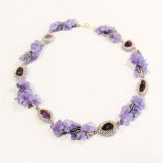 天然石アメジストネックレス ビ-ズ細工の通販 by Beads Jewelry|フリル