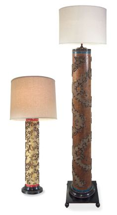 I have one of the original Antique wallpaper lamps - given to me by Julian Chichester!