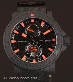 Ulysse Nardin Maxi Marine Black Sea Diver $7,020 #watches #men #Ulysse #chronograph