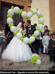 Balloons in the shape of a heart! Great for pictures