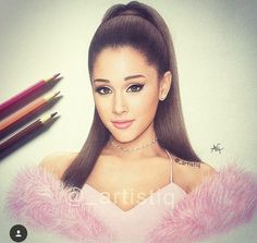 Imagem de ariana grande, art, and draw