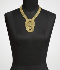 neck wear   knotted multi-chain necklace {express}