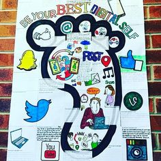 Digital Citizenship looking quite amazing. Students' gorgeous collaborative poster. ($)