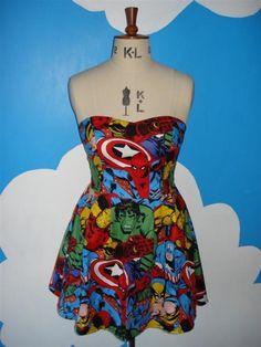 I absolutely love this superhero dress.