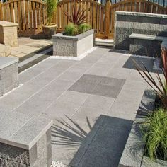 Marshalls Paving-Manmade 'Argent'-Light-PAVING SLABS, SINGLE SIZE OPTIONS