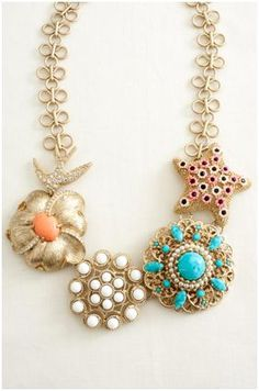 Stella and Dot Birds of Paradise Necklace