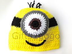 Minion Hat  Crochet Hat  Hats Teen/Adult Size by Gifts2GoGoShop, $18.00
