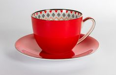 Toto Jumbo Cup and Saucer Red | T2 Tea