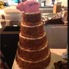This bacon at its finest! This will be what my wedding cake looks like!