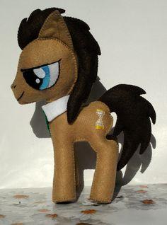 Doctor Whooves Pony Handmade Plush Toy - Felt - My Little Pony