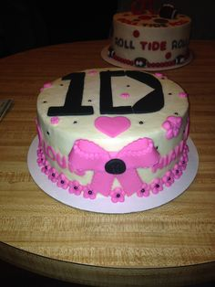 1D One Direction themed girls birthday cake