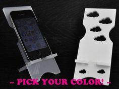 iPhone Stand / Samsung Docking Station Puffy Clouds by BeautiPhone, $9.00